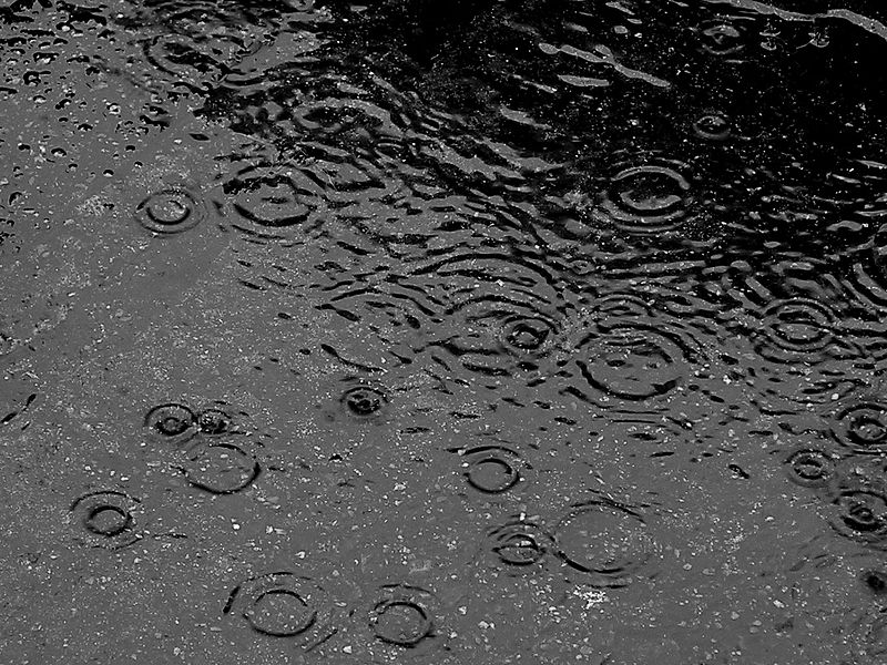 Rain, cr. Wikimedia Commons